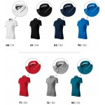 Black ladies polo shirt with short sleeves