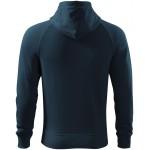 Navy blue men's contrasting sweatshirt with a hood