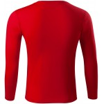 Red t-shirt with long sleeves, low weight